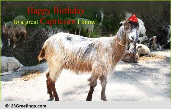 Capricorn Birthday Wish Free Zodiac ECards Greeting Cards 123 Greetings