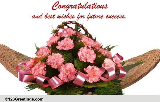 Congratulations And Best Wishes Free Business Amp Workplace ECards 123 Greetings