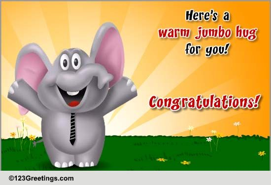 Warm Jumbo Hug! Free Business & Workplace ECards Greeting