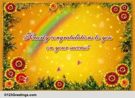 Hearty Congratulations To You! Free For Everyone ECards