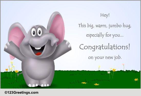 congratulate on new job