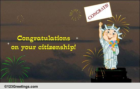 Congratulations On Your Citizenship! Free On Other