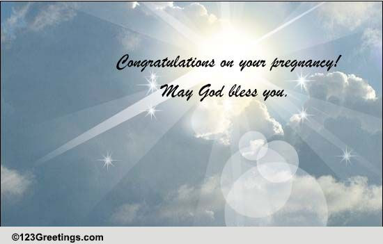 May God Bless You Free Pregnancy ECards Greeting Cards 123 Greetings