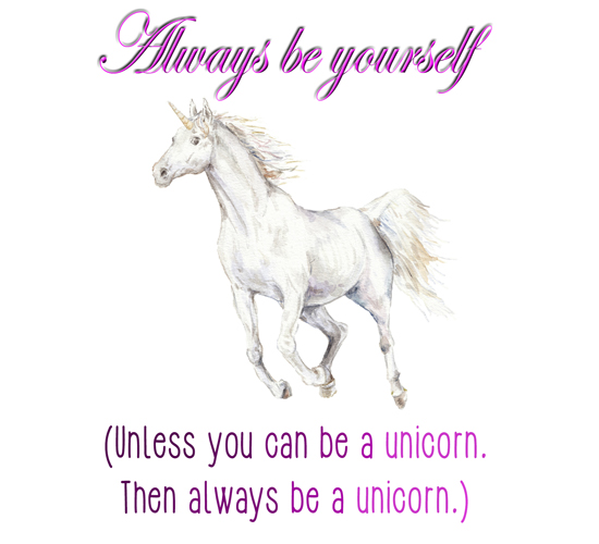 Be A Unicorn Free Smile eCards Greeting Cards  123