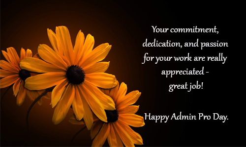 administrative professionals day words of appreciation