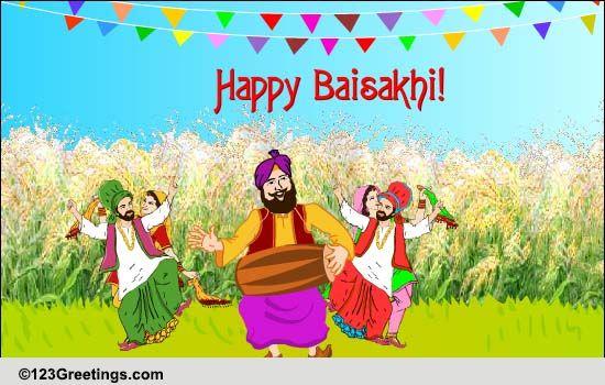 Baisakhi Cards Free Baisakhi Wishes Greeting Cards 123