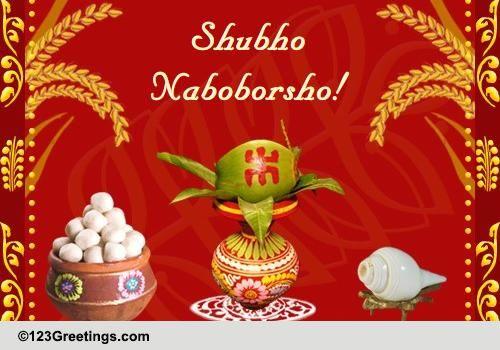 Warm Wishes On Bengali New Year Free Bengali New Year ECards 123 Greetings