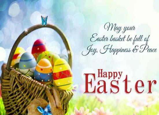 Very Cute Hello Kitty Wallpaper Easter Basket Full Of Joy Free Happy Easter Ecards