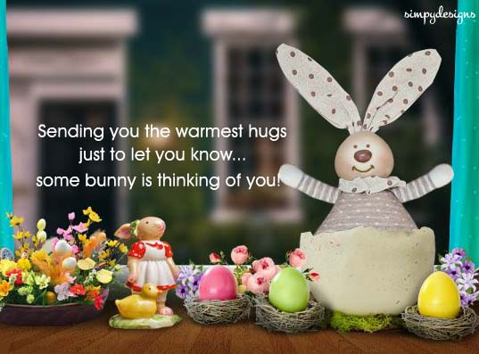 Warm Hugs And Wishes On Easter Free Happy Easter ECards