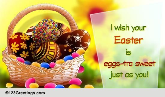 Easter Wishes For Children! Free Family ECards Greeting