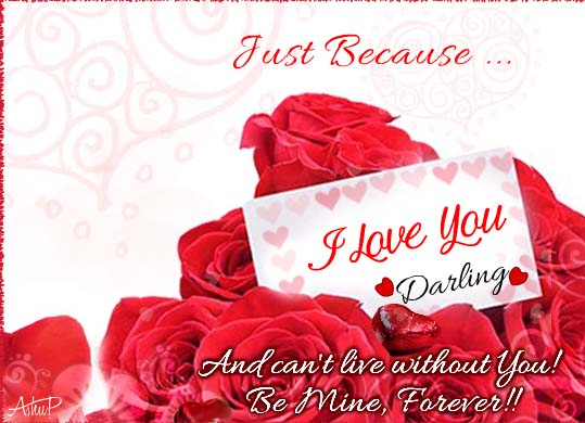 Just Because I Love You! Free Just Because Day ECards