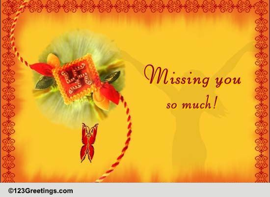 Missing Your Bro On Raksha Bandhan Free Miss You ECards