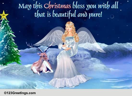 Christmas Angel Cards Free Christmas Angel Wishes