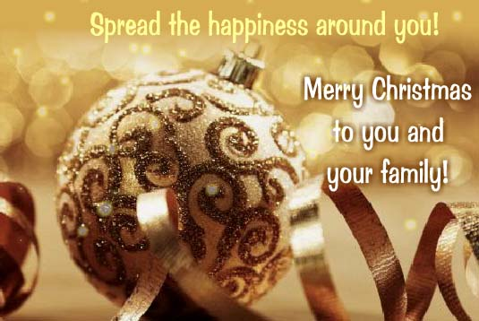 Spread The Happiness Around You Free Family ECards