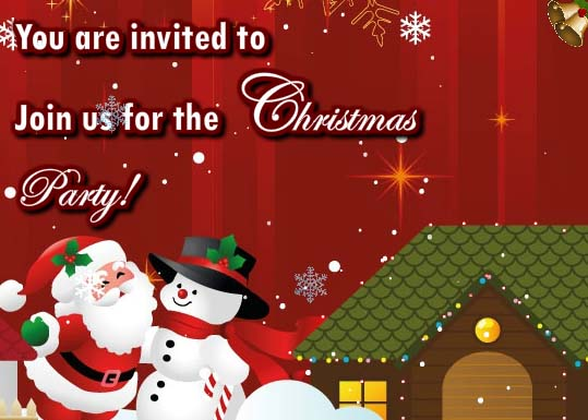 Invitation For Christmas Celebration Free Invitations