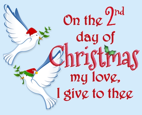 12 Days Of Christmas Love 2nd Day Free Love ECards Greeting Cards 123 Greetings