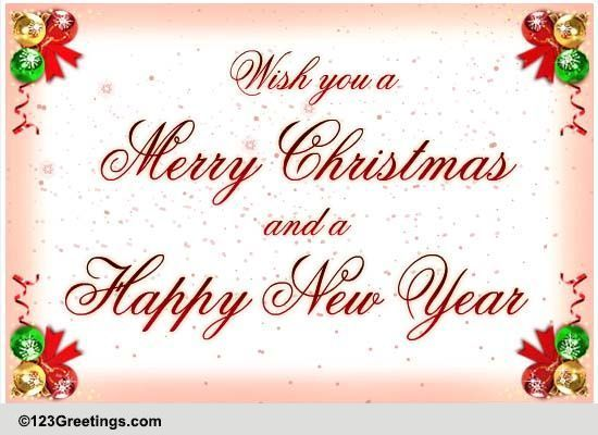 Christmas Classic Free Merry Christmas Wishes ECards