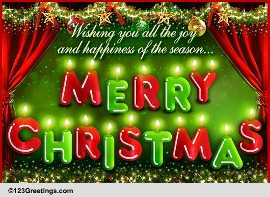 Christmas Lights Free Merry Christmas Wishes ECards