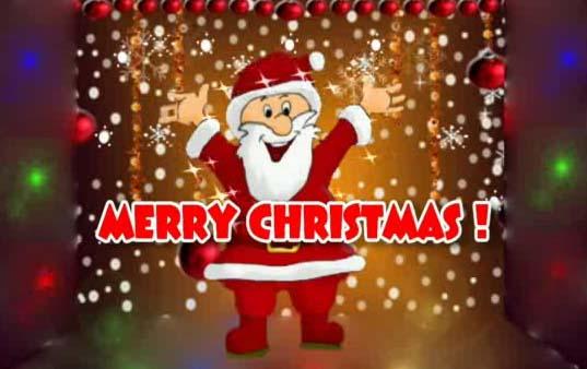 Merry Christmas! Dancing Santa Ecard Free Merry Christmas