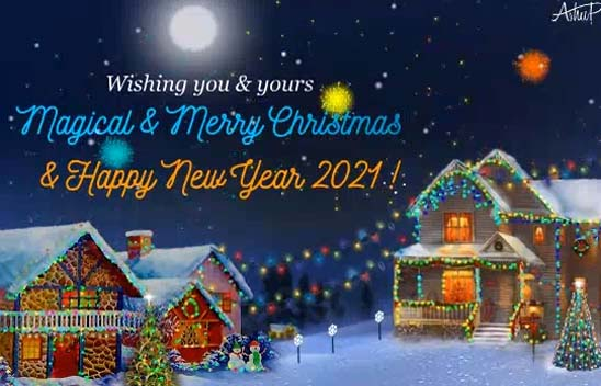 Magical Christmas Amp New Year Free Merry Christmas Wishes