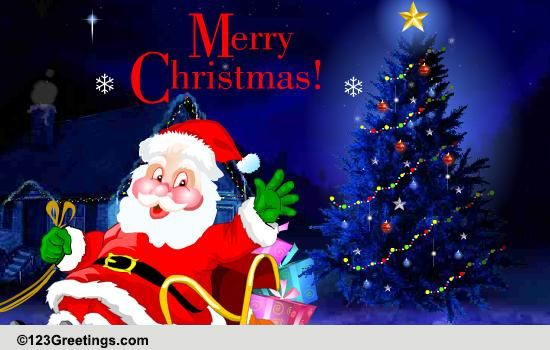 Merry Christmas Free Santa Claus ECards Greeting Cards