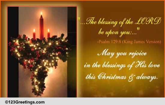Blessings Of The Lord On Christmas Free Religious Blessings ECards 123 Greetings