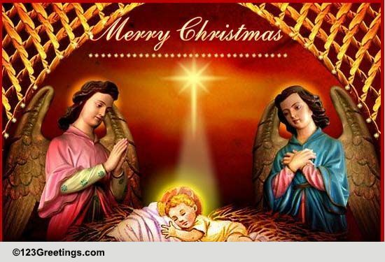 On The Day Jesus Was Born Free Religious Blessings