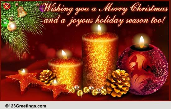 Christmas Thank You And Wishes Free Thank You ECards