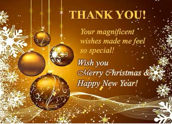 Thanks For Your Magnificent Wishes Free Thank You ECards
