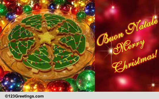 Italian Christmas Pizza Free Italian ECards Greeting
