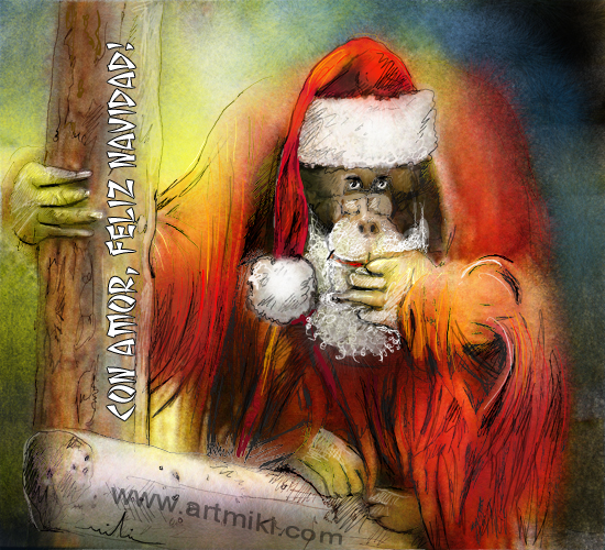 With Love Merry Christmas Free Spanish ECards Greeting