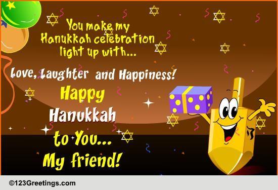 Friendly Hanukkah Wish Free Friends  Family eCards