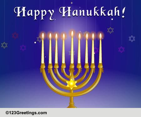 Light It Up This Hanukkah! Free Happy Hanukkah ECards