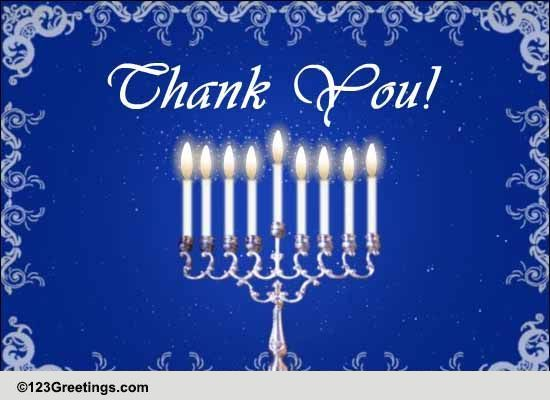 Say Thank You On Hanukkah Free Thank You ECards Greeting Cards 123 Greetings