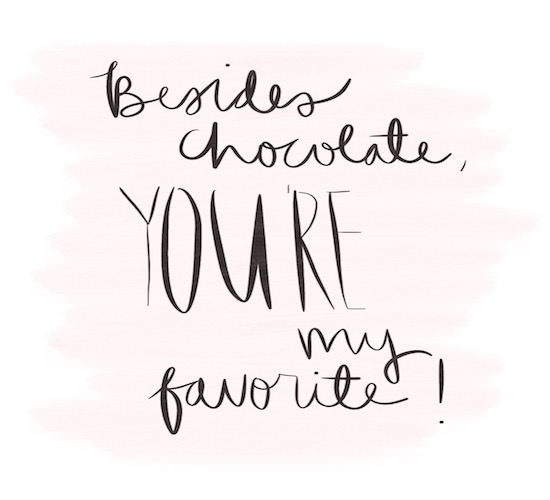 Besides Chocolate You Are My Favorite. Free For Her eCards