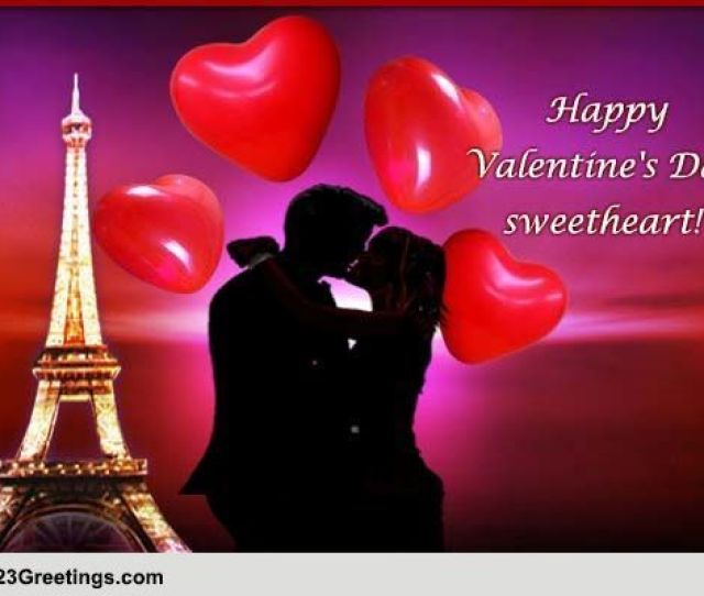 Happy Valentines Day Sweetheart Free Kisses Smooches Ecards  Greetings