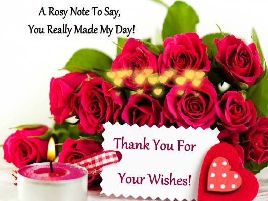 Thanks For Your Lovely Wishes Free Thank You ECards