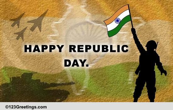 Wishes For A Defence Personnel Free Republic Day India