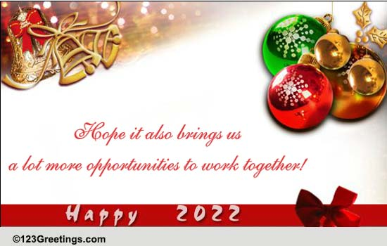 New Year Business Greetings Cards Free New Year Business