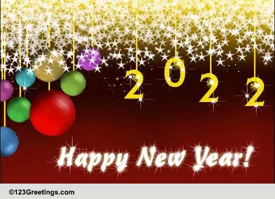New Year Shining With Happiness Free Social Greetings ECards 123 Greetings