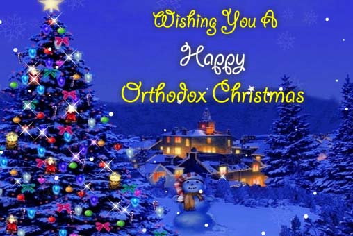 Thank You For Your Warm Wishes Free Orthodox Christmas ECards 123 Greetings