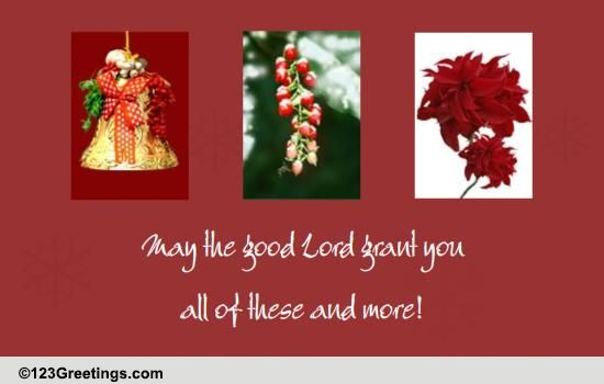 May The Lord Bless Your Family Free Seasonal Blessings ECards 123 Greetings