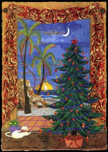 Tropical Xmas Free Holiday Cheer ECards Greeting Cards