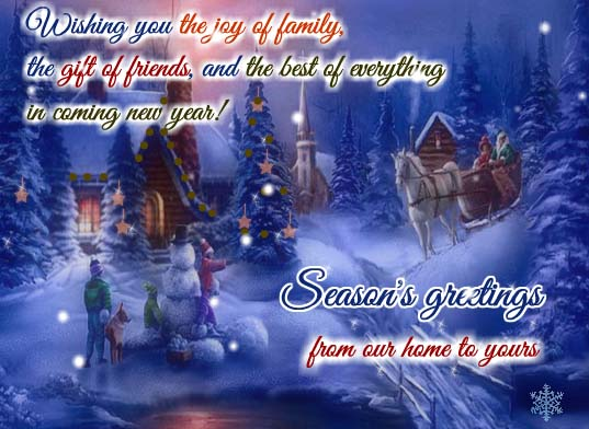 Magic And Wonder Of Holiday Season Free From Our Home To Yours ECards 123 Greetings