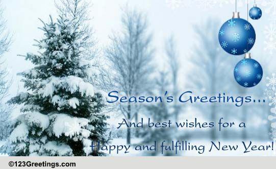 Seasons Greetings Formal Wishes Free Seasons