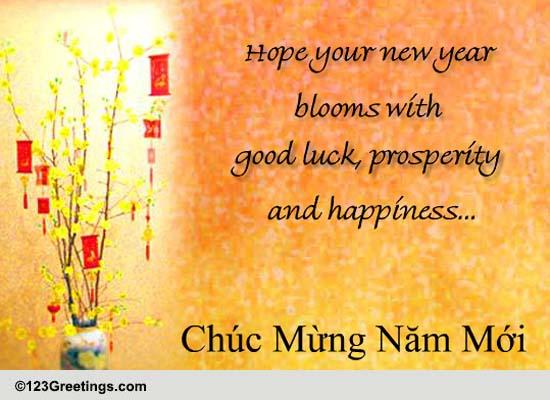 Vietnamese New Year Greetings Free Vietnamese New Year
