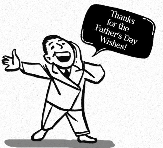 Thanks Father's Day Wish, Cartoon. Free Thank You eCards