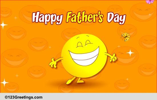 Smiley Dance For Fathers Day Free From Daddys Girl ECards 123 Greetings