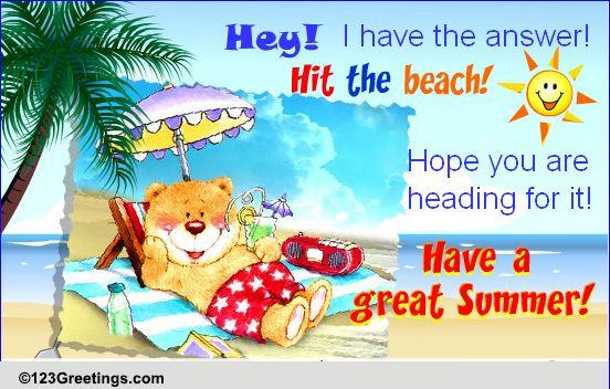 Describe Summer In 3 Words Free Fun ECards Greeting