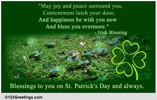St Patrick's Day Irish Blessings Cards Free St Patrick